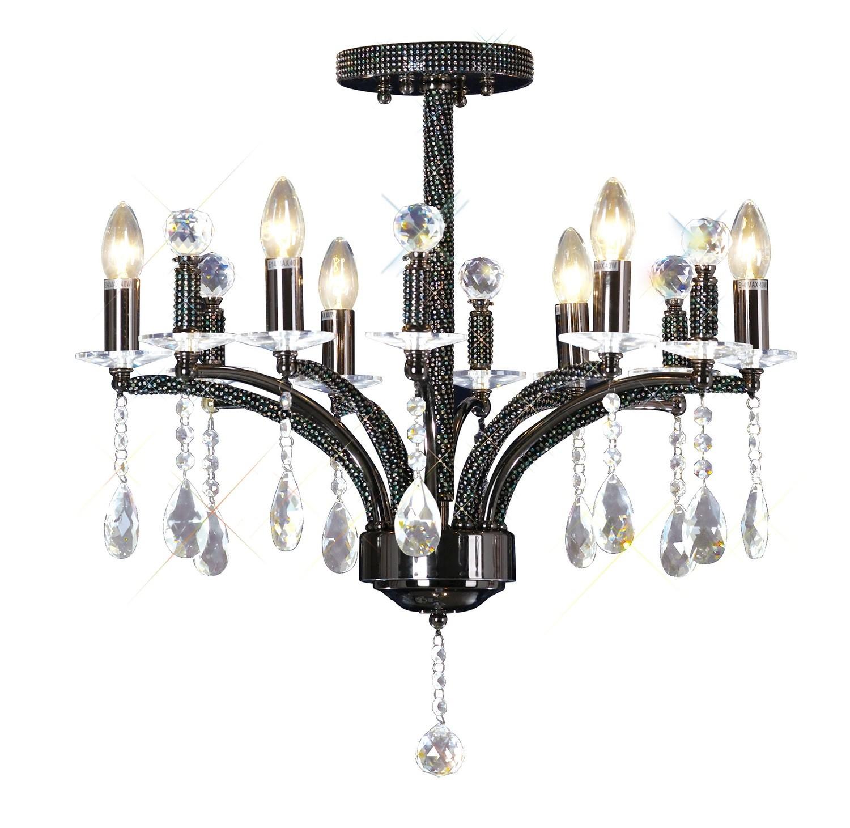 Fiore Ceiling Luminaire 6 Light Black Chrome/Crystal