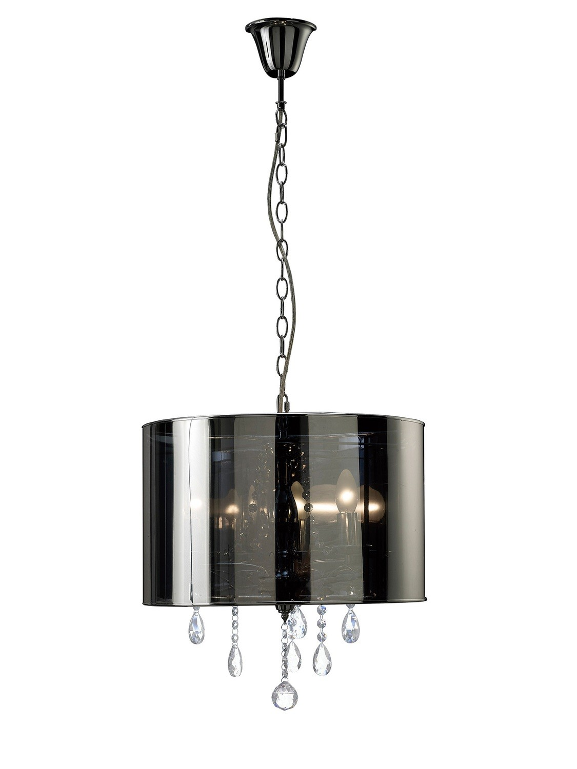 Trace Pendant With Chrome Shade 3xE14 Light Polished Chrome/PVC /Crystal