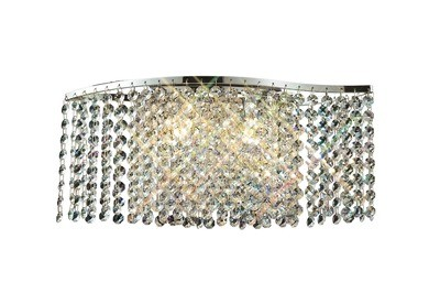Fabio Wall Lamp Switched 2 Light G9 Polished Chrome/Crystal