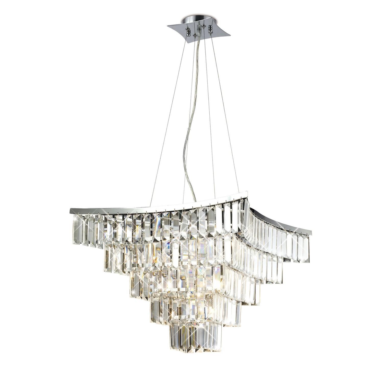 Gianni Semi Ceiling 5 Light Polished Chrome/Crystal
