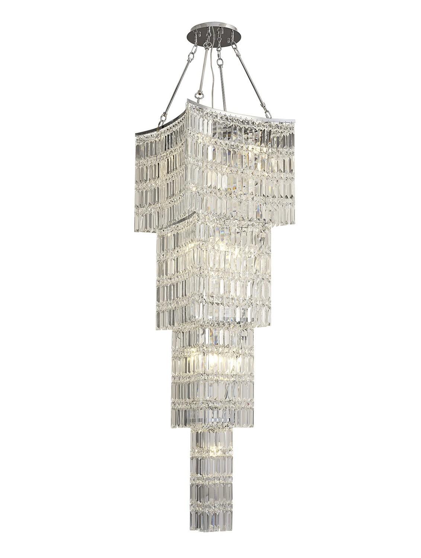 Gianni Tall Pendant 11 Light Polished Chrome/Crystal
