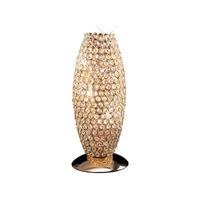 Diyas IL30766 Kos Table Lamp 3 Light French Gold/Crystal