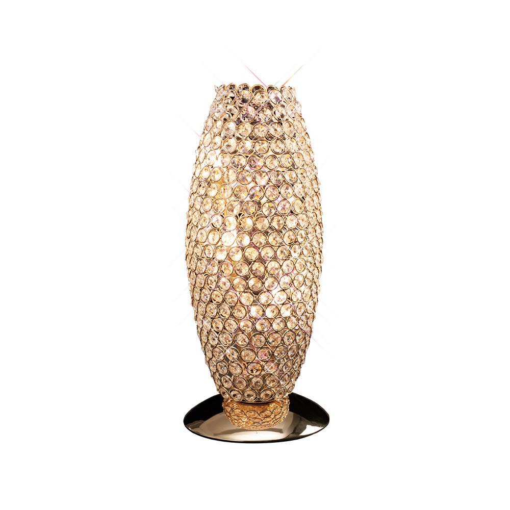 Diyas IL30766 Kos Table Lamp 3 Light French Gold/Crystal