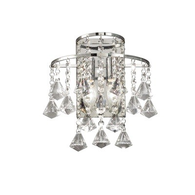 Inina Wall Lamp Switched 2 Light Polished Chrome/Crystal