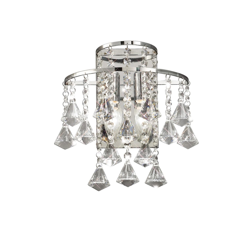 Inina Wall Lamp Switched 2 Light Polished Chrome/Crystal