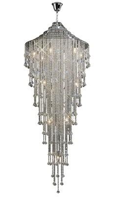 Inina Tall Pendant 15 Light Polished Chrome/Crystal