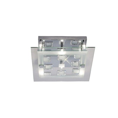 Destello Ceiling Square With Square Pattern 6 Light Polished Chrome/Crystal