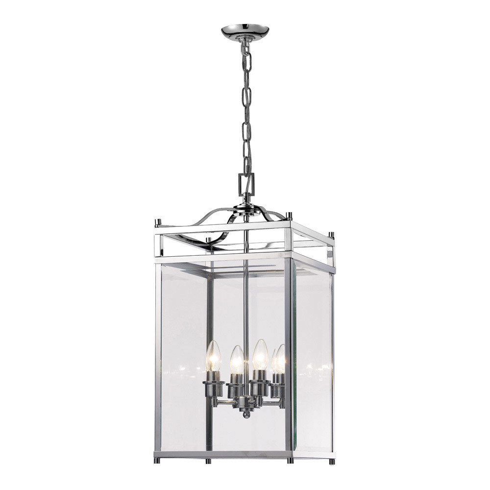 Aston Pendant 4xE14 Light Polished Chrome/Glass