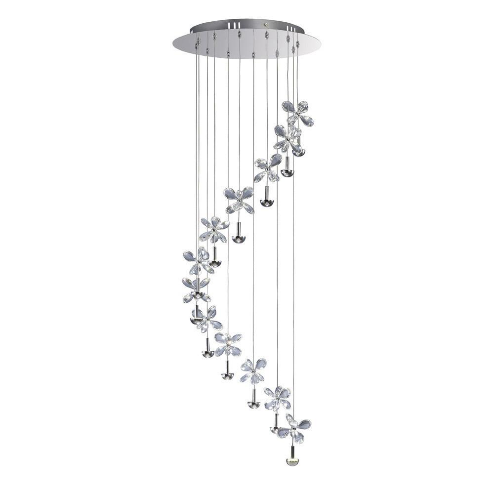 Aviva Pendant 12 Light 4000K LED Polished Chrome/Crystal