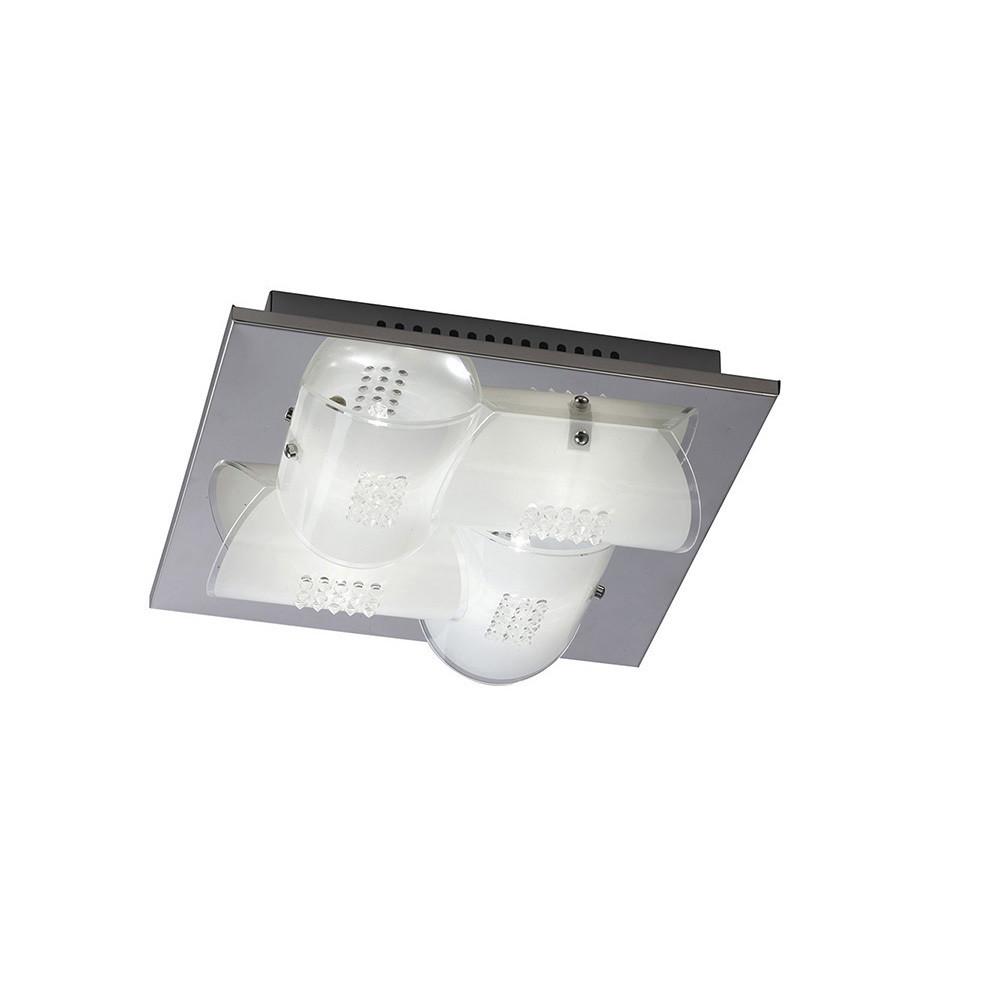 Starlis Ceiling 4 Light Polished Chrome/Glass/Crystal