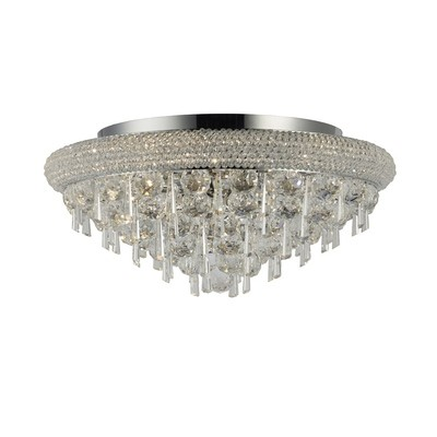 Alexandra Wall Lamp Small 1 Light Polished Chrome/Crystal