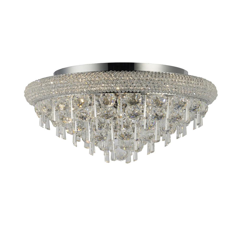 Alexandra Wall Lamp Small Polished Chrome/Crystal 2 Light E14