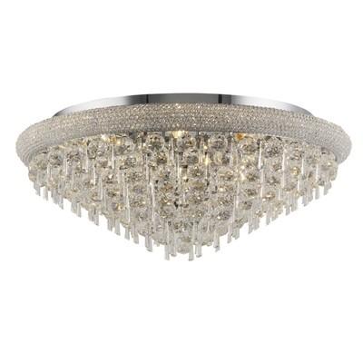 Alexandra Wall Lamp Large 3 Light Polished Chrome/Crystal