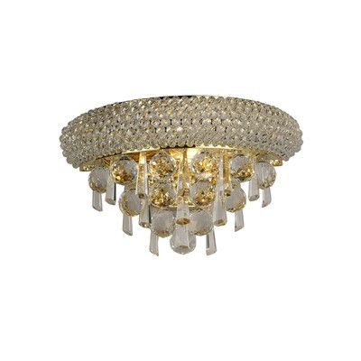 Alexandra Wall Lamp Small 2 Light French Gold/Crystal