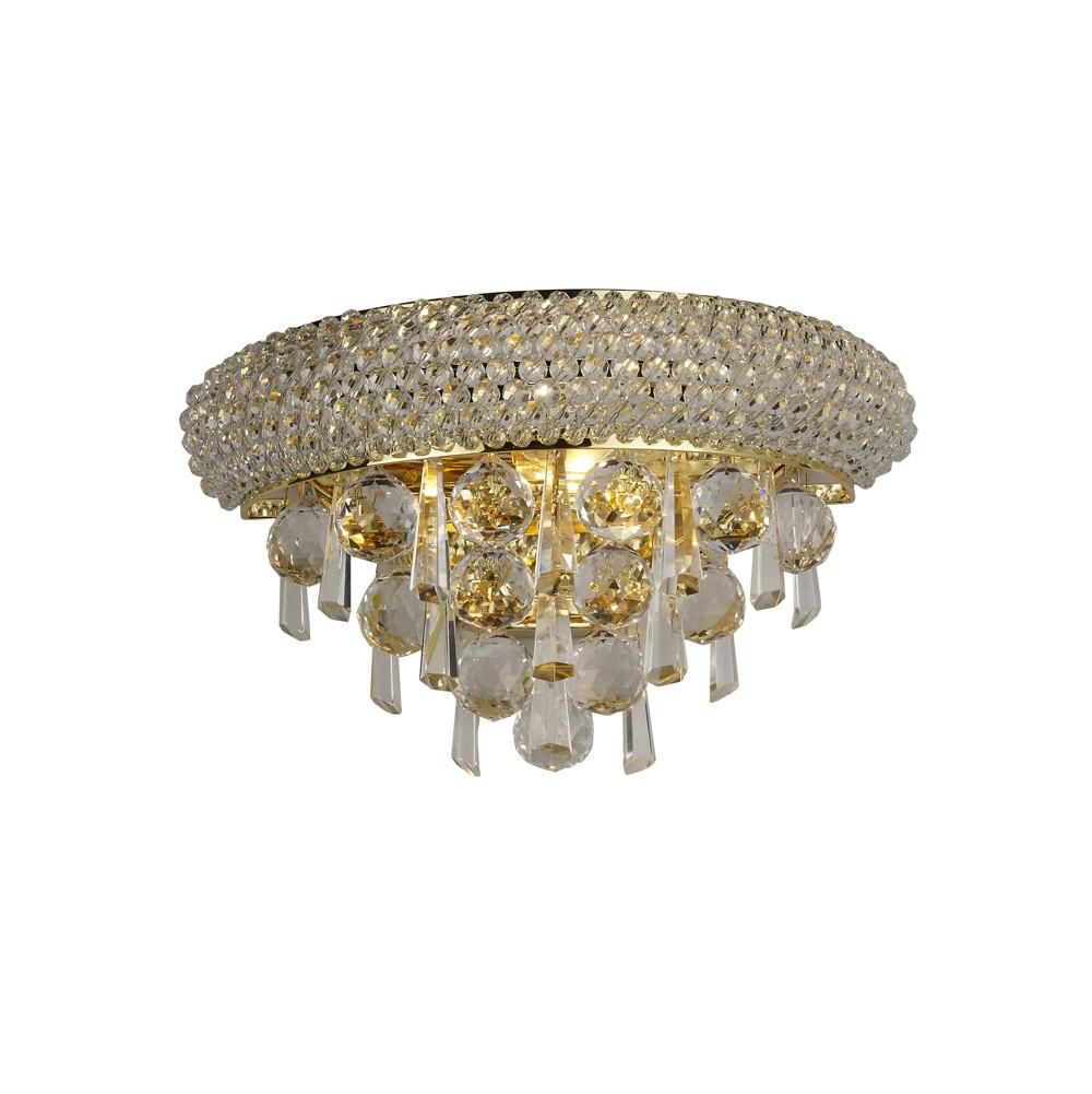 Alexandra Wall Lamp Small 2 Light French Gold/Crystal