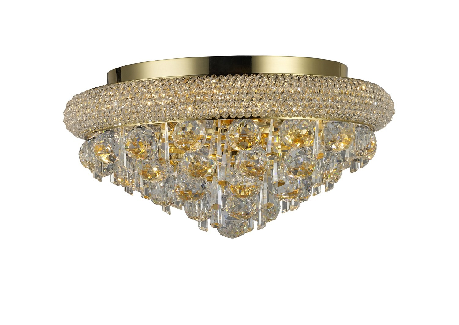 Alexandra Ceiling 6 Light French Gold/Crystal