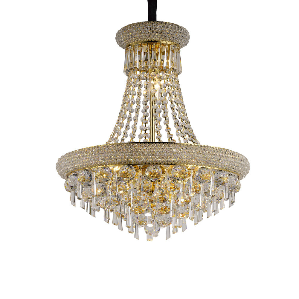 Alexandra Pendant 9 Light French Gold/Crystal