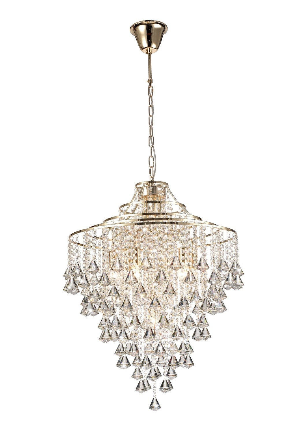 Inina Pendant 7 Light E14 French Gold/Crystal