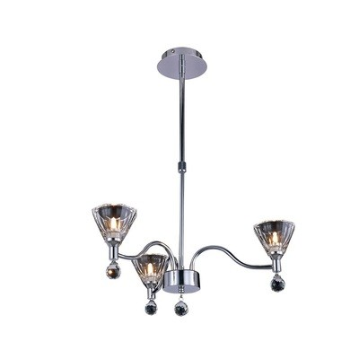 Neptune Pendant Round 3 Light Polished Chrome