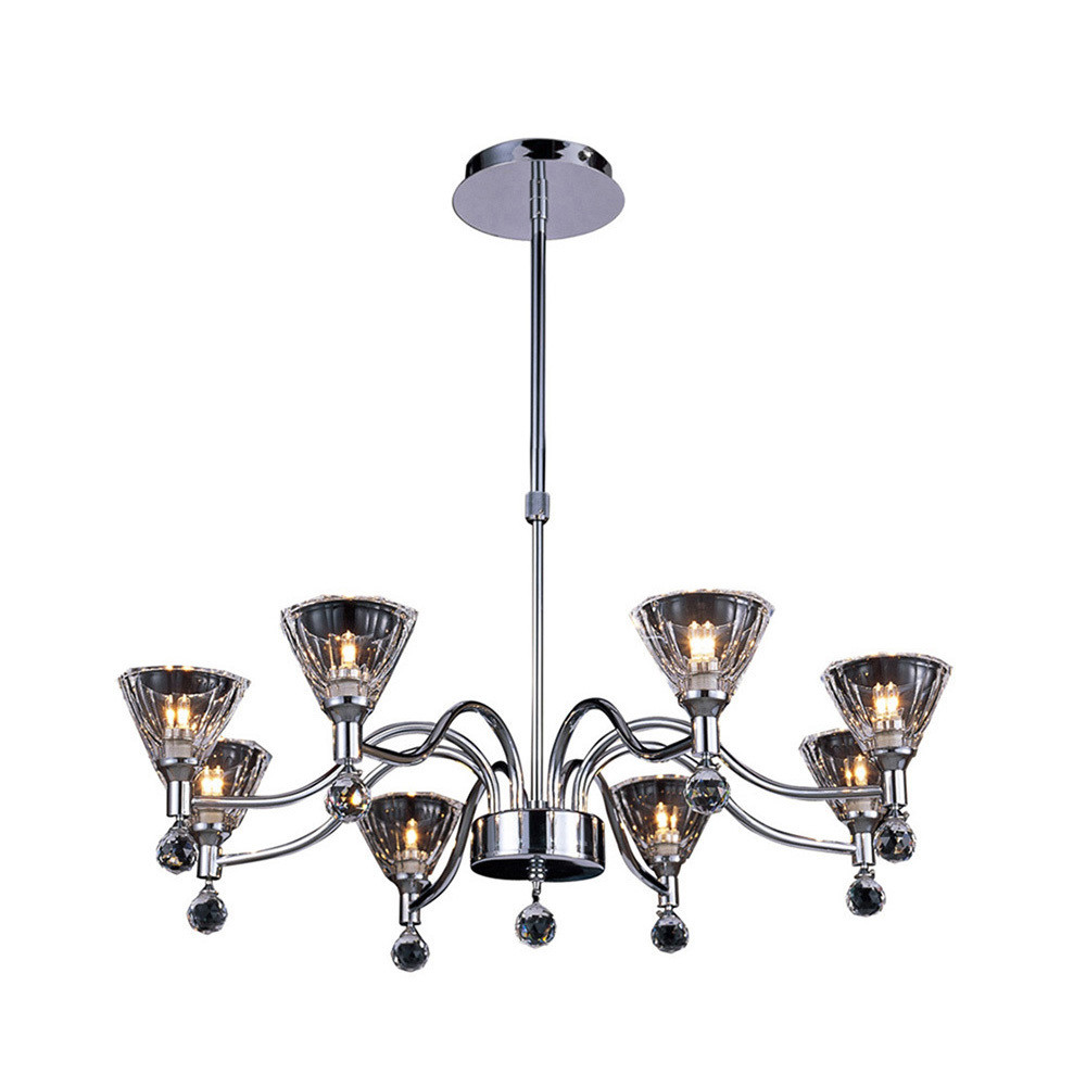 Neptune Pendant Round 8 Light Polished Chrome