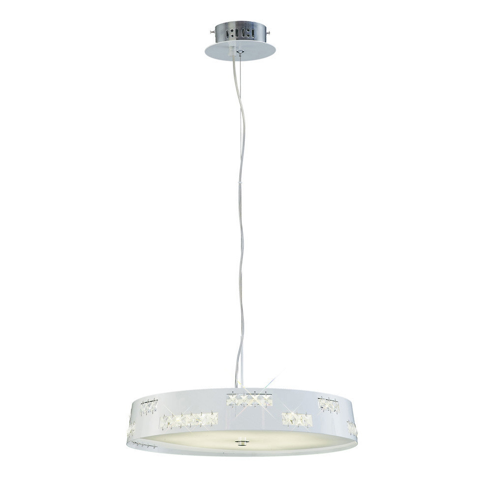 Phoenix Pendant 18W LED 3600K White/Crystal