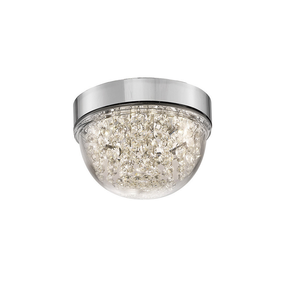 Harper Small Ceiling 6W 500lm LED 4000K Polished Chrome/Crystal