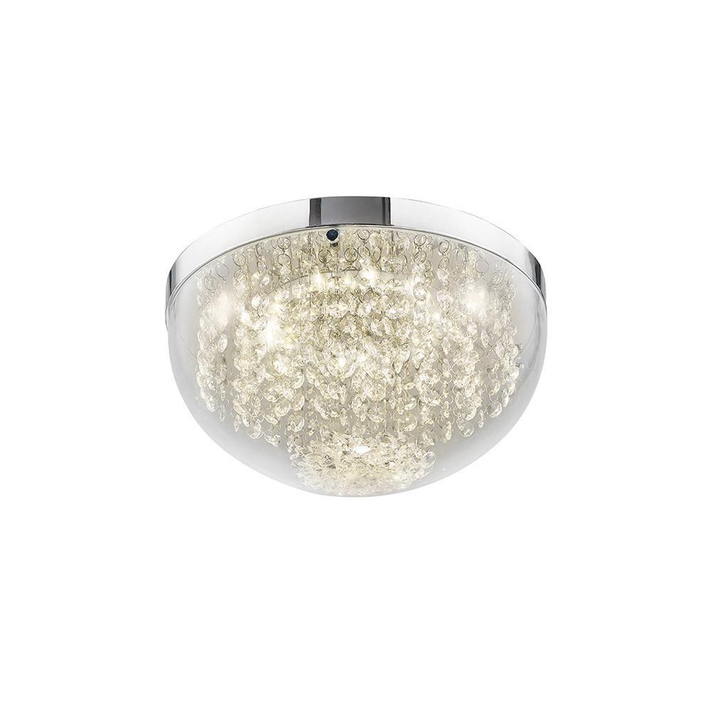 Harper Medium Ceiling 12W 950lm LED 4000K Polished Chrome/Crystal