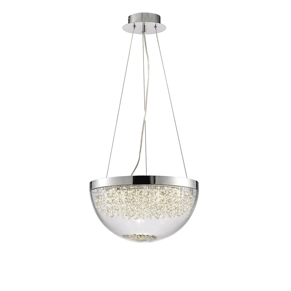Harper Large Pendant 21W 1600lm LED 4000K Polished Chrome/Crystal