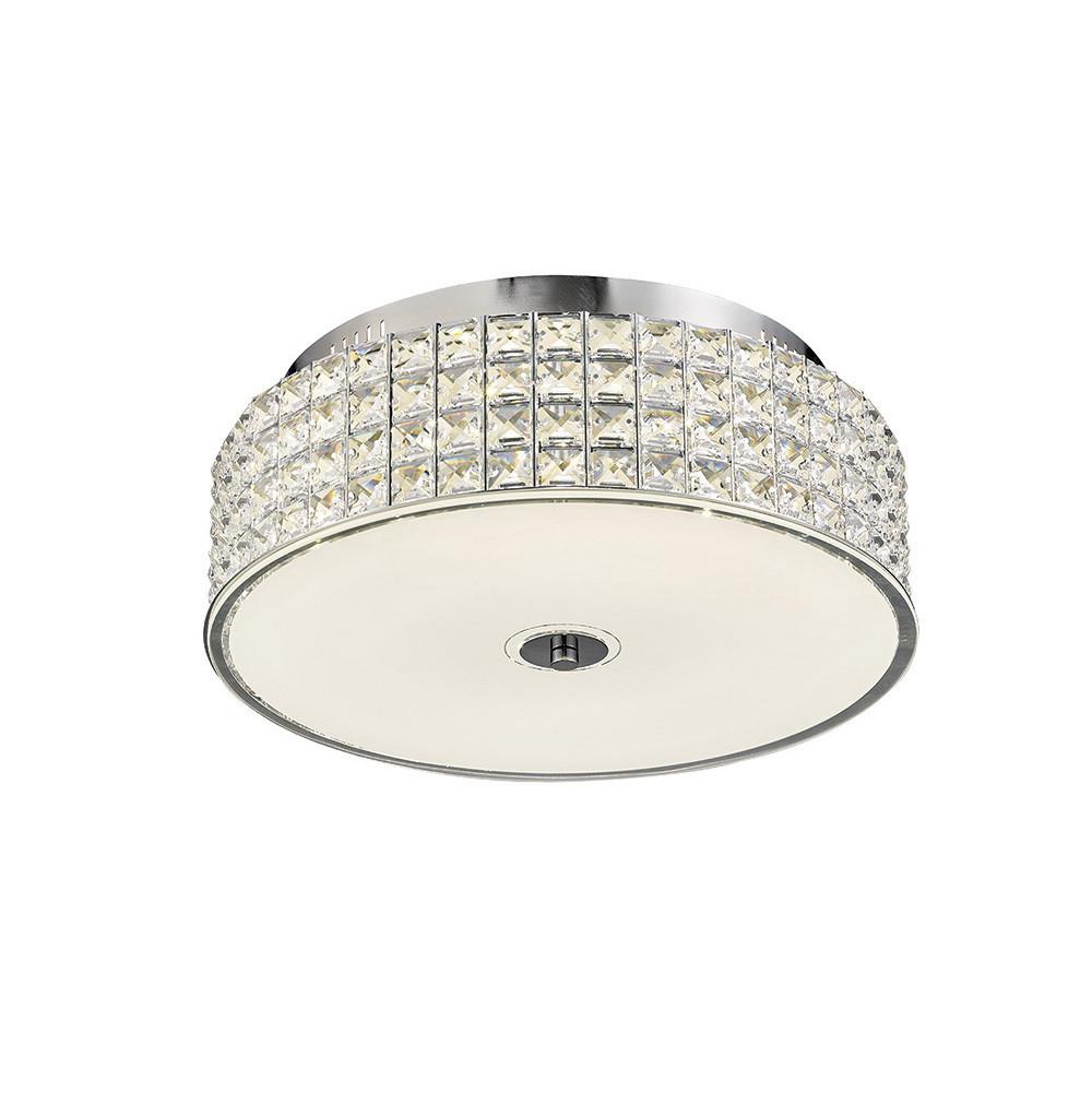 Hawthorne Round Ceiling 30W 1700lm LED 4000K Polished Chrome/Crystal