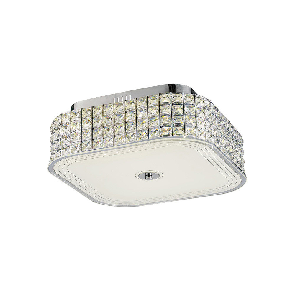 Hawthorne Square Ceiling 30W 1450lm LED 4000K Polished Chrome/Crystal