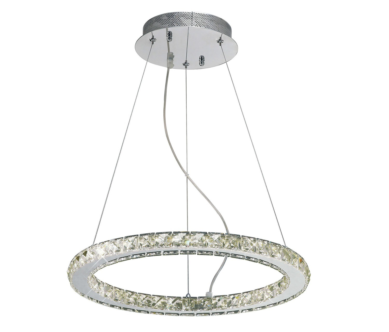 Galaxy Pendant Round Small 27W LED 4000K Polished Chrome/Crystal