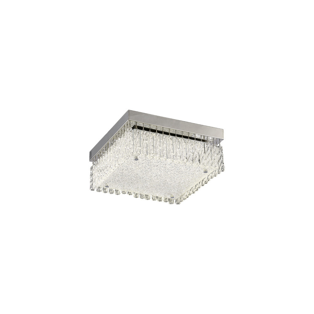 Aiden Small Square Ceiling 18W 1700lm LED 4200K Polished Chrome/Crystal