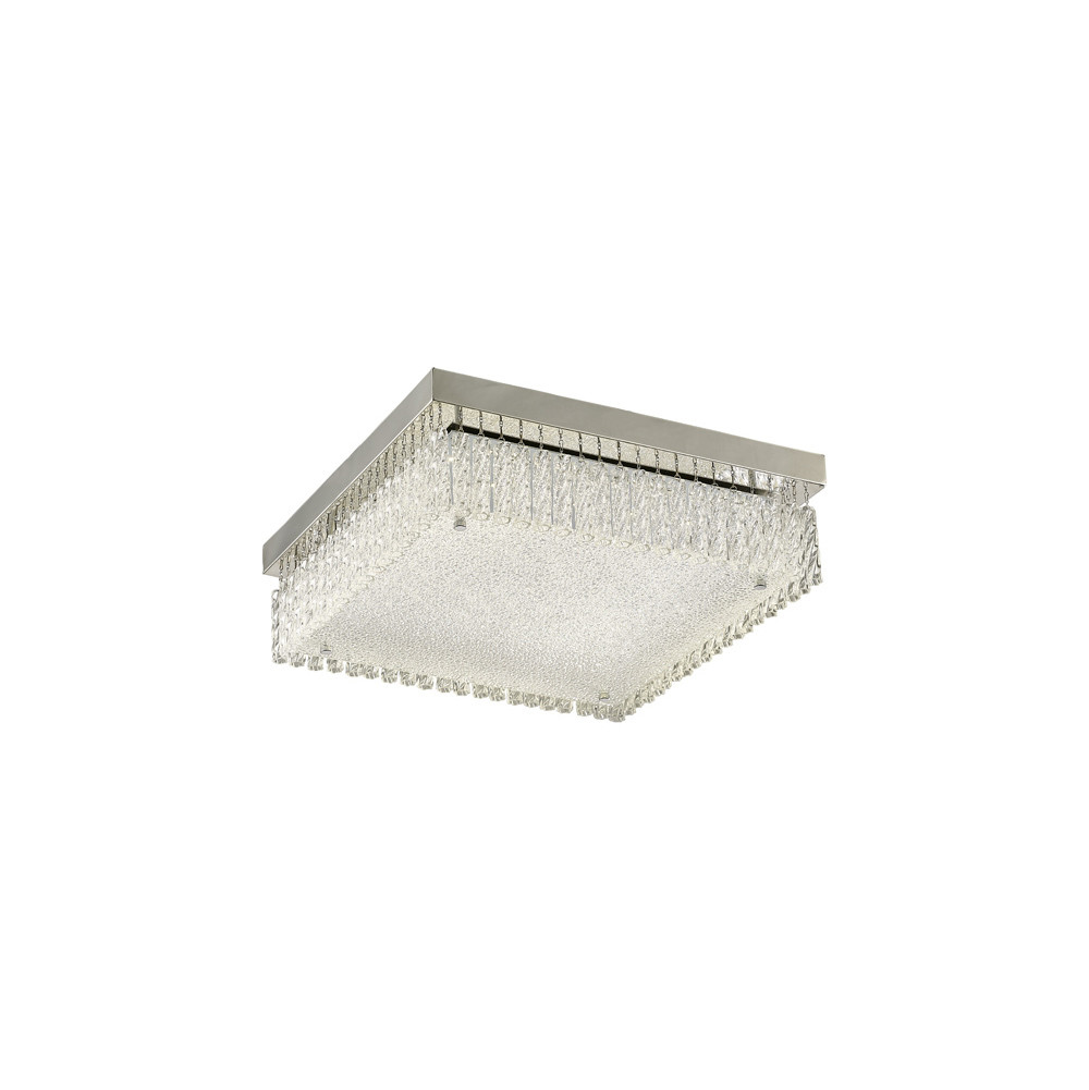 Aiden Large Square Ceiling 21W 1800lm LED 4200K Polished Chrome/Crystal