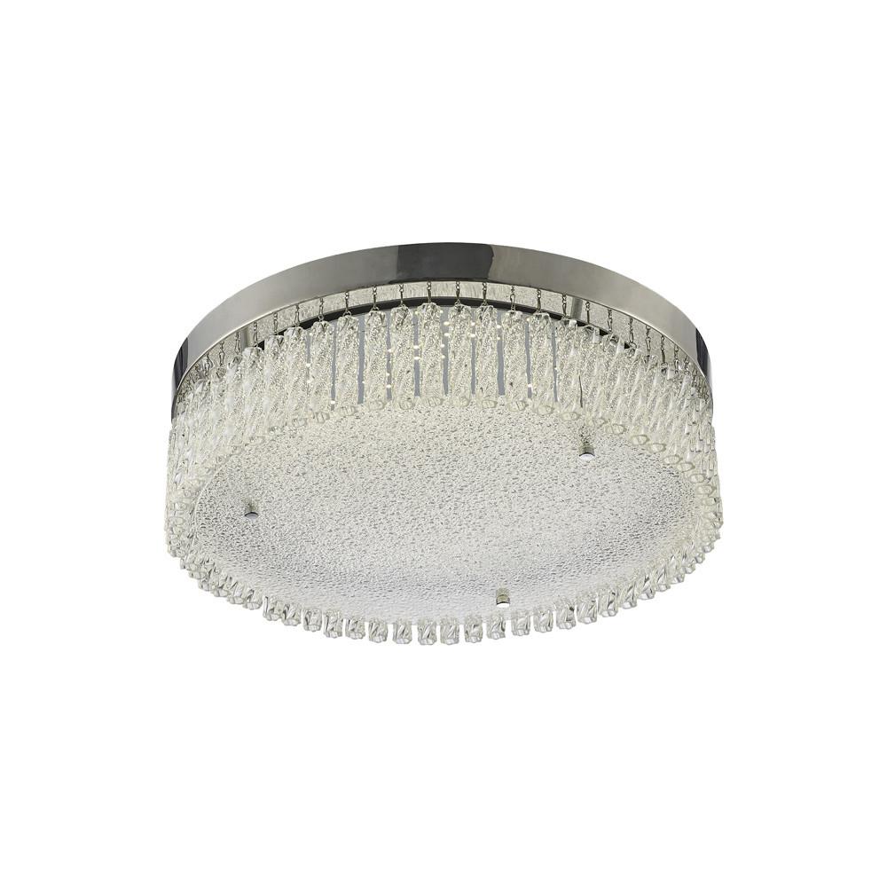 Aiden Large Round Ceiling 21W 1900lm LED 4200K Polished Chrome/Crystal