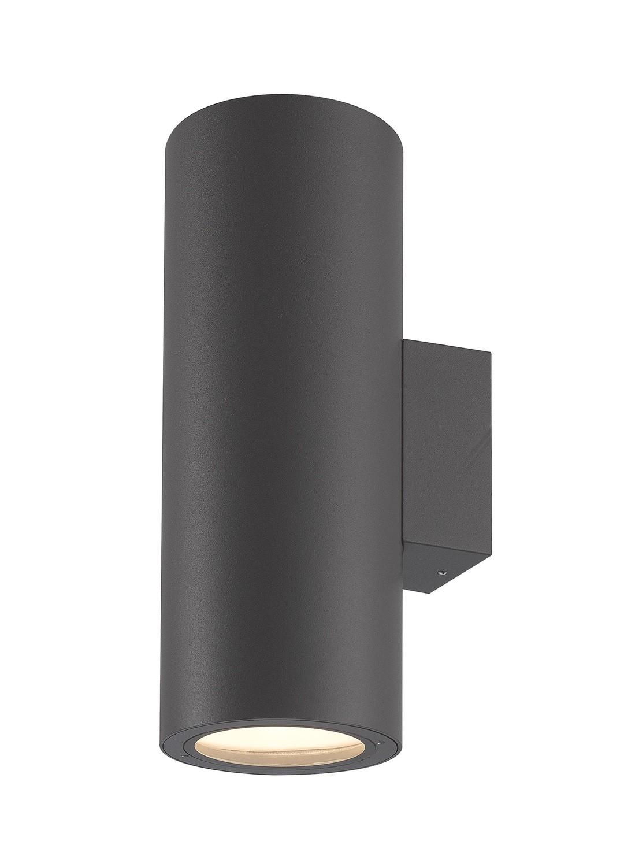 Volcano Wall Lamp, 2 x E27, IP54, Graphite