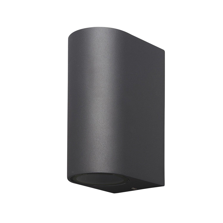 Kandanchu Round Lamp up&down light, 2 x GU10, IP54, Anthracite