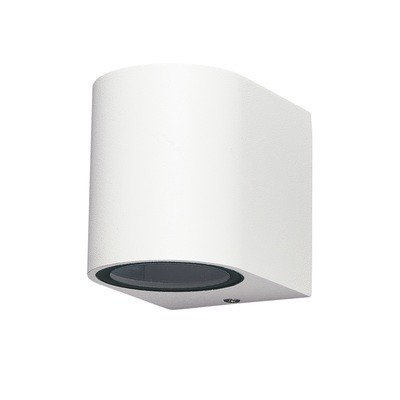 Kandanchu Round Wall Lamp, 1 x GU10, IP54 for Outdoor, White or Anthracite