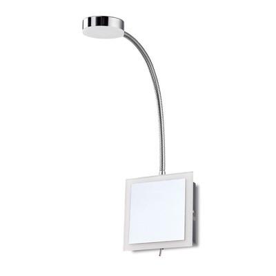 Taccía Spot Light Flexible 1 Light 3W LED 3000K, 300lm, Polished Chrome/Frosted Acrylic, 3yrs Warranty