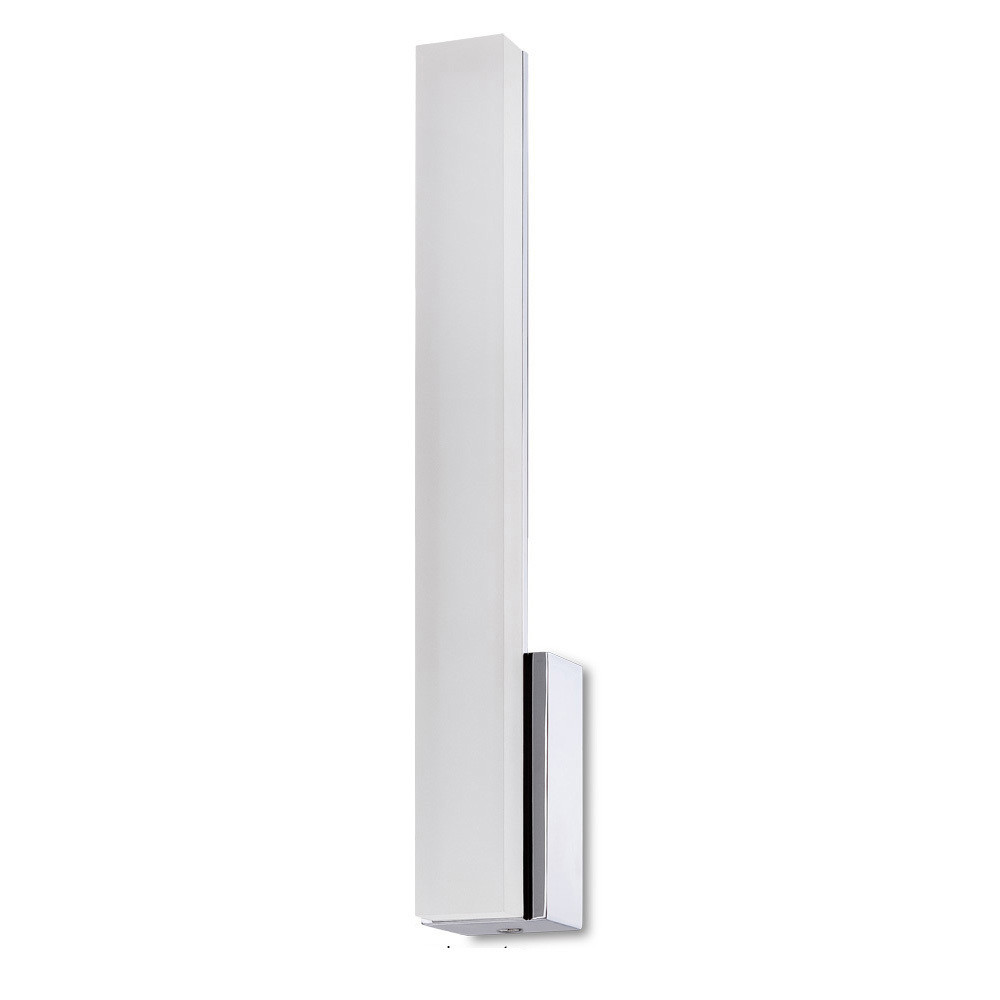 Taccía Wall Lamp 5W LED Vertical 3000K, 450lm, Polished Chrome/Frosted Acrylic, 3yrs Warranty