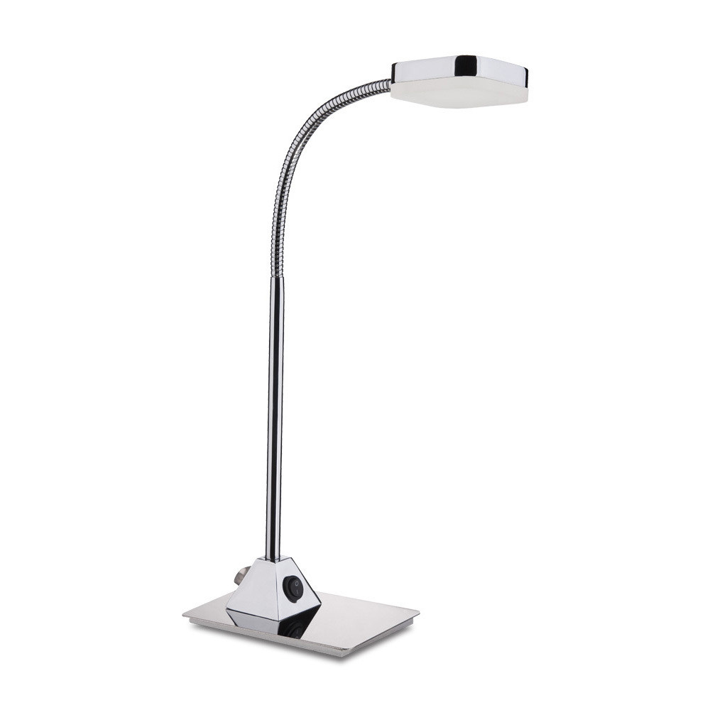 Gio Table Lamp 1 Light 5W LED 3000K, 450lm, Polished Chrome/Frosted Acrylic, 3yrs Warranty