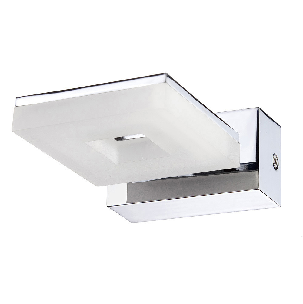 Marc Wall Lamp 1 Light 5W LED 3000K, 450lm, Polished Chrome/Frosted Acrylic