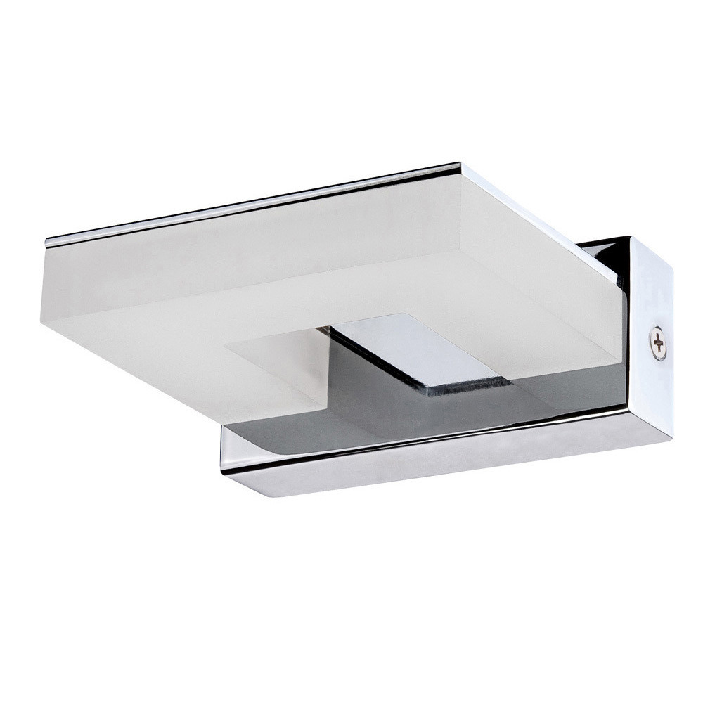 Marc Wall Lamp 5W LED 3000K, 450lm, Polished Chrome/Frosted Acrylic, 3yrs Warranty