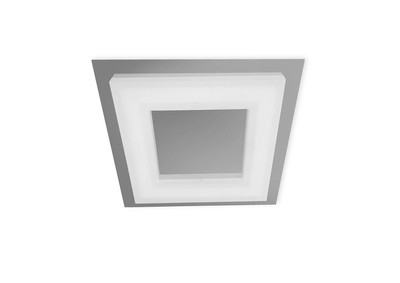 Marcel Ceiling 20W LED Square 3000K IP44, 1800lm, Polished Chrome/Frosted Acrylic