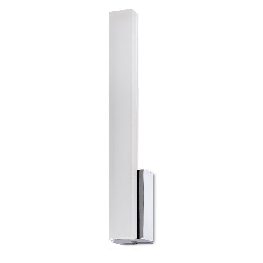 Taccía Wall Lamp 5W LED Vertical 3000K IP44, 450lm, Polished Chrome/Frosted Acrylic, 3yrs Warranty