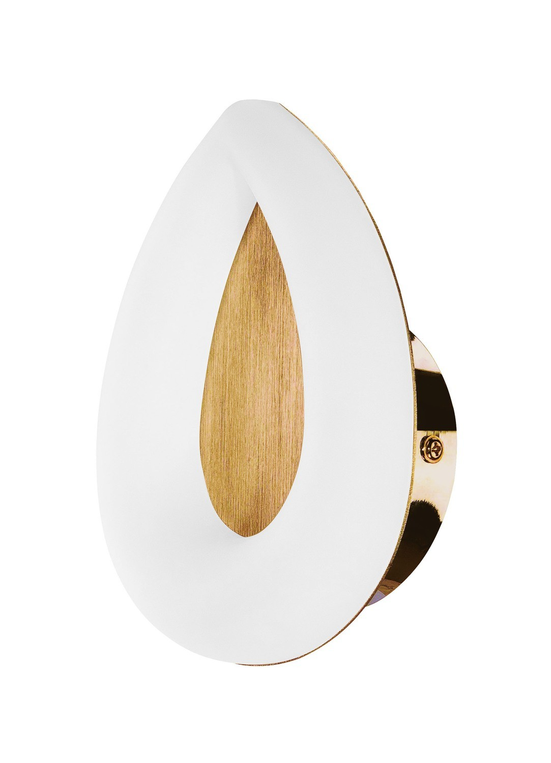 Juno Wall Lamp 5W LED 3000K, 450lm, Satin Gold/Frosted Acrylic/Gold, 3yrs Warranty