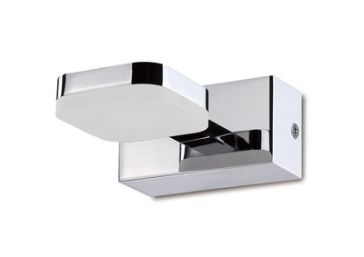 Gio Wall Lamp 1 Light LED 5W 3000K IP44, 450lm, Polished Chrome/Frosted Acrylic, 3yrs Warranty