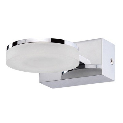 Nimbus Wall Lamp 1 Light 5W LED 3000K IP44, 450lm, Polished Chrome/Frosted Acrylic