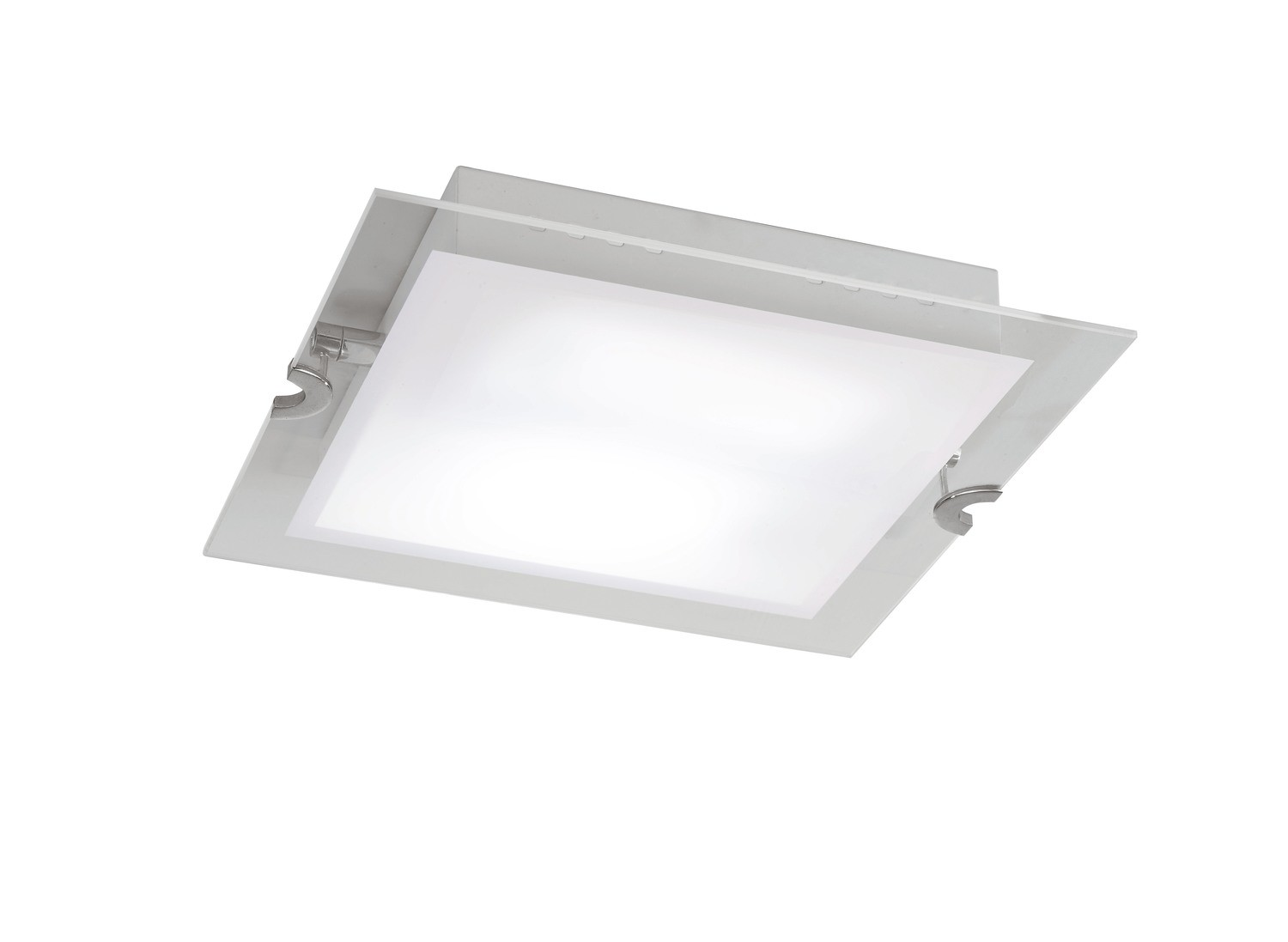 Melbourne Ceiling 15W LED 3000K, 1350lm, Polished Chrome/Frosted White Glass, 3yrs Warranty