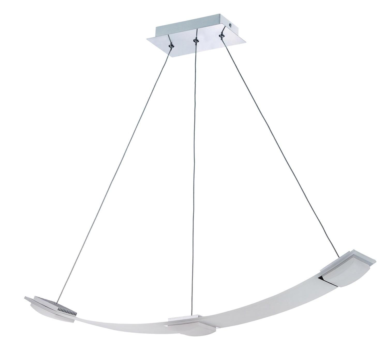 Thea Pendant 3 Light 21W LED 3000K, 1890lm, Satin Aluminium/Frosted Acrylic, 3yrs Warranty