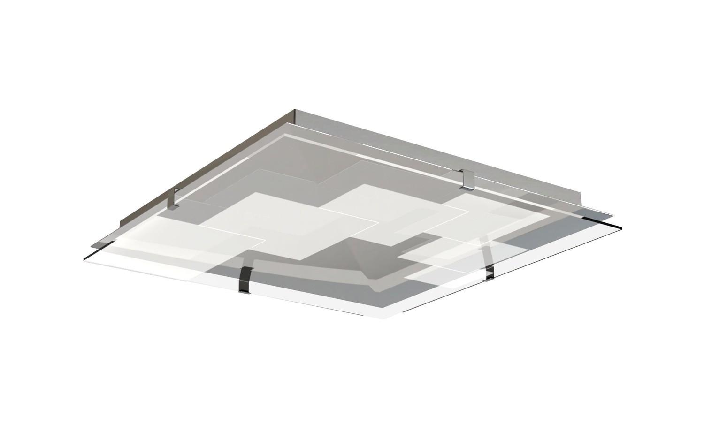 Jersey Ceiling 20W LED Square 3000K, 1800lm, Polished Chrome/Opal White Glass, 3yrs Warranty